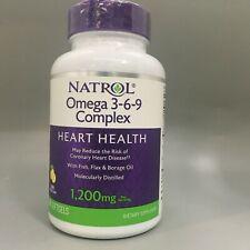 Natrol Omega 3 6 9 Complex Lemon Flavor For Sale Online Ebay