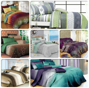 ARTISTIC-Single-Doube-Queen-King-Super-King-Size-Bed-Doona-Duvet-Quilt-Cover-Set