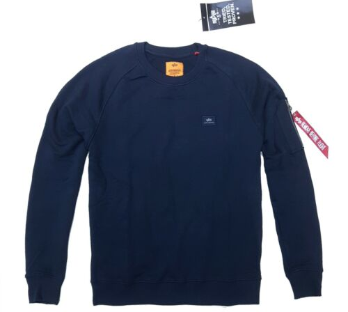 Alpha Industries X-Fit Sweat Pull Hommes Sweater Pull Bleu Marine