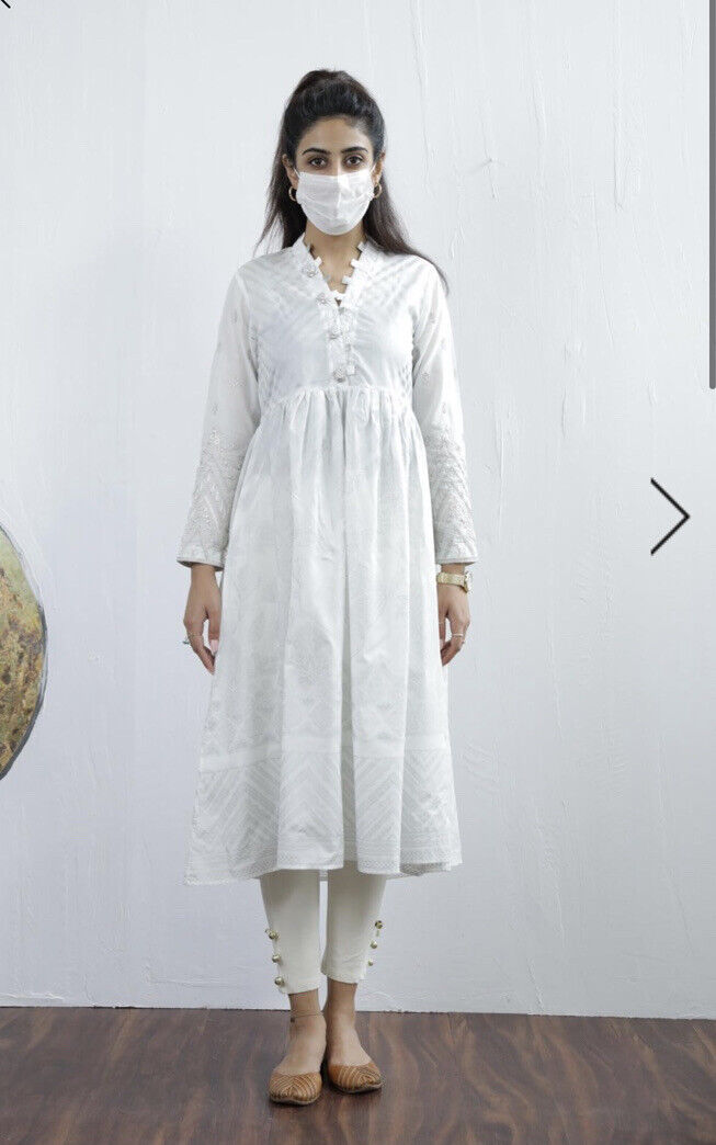 Ethnic By Outfitters Medium Embroidered Cotton Dress Kurta/