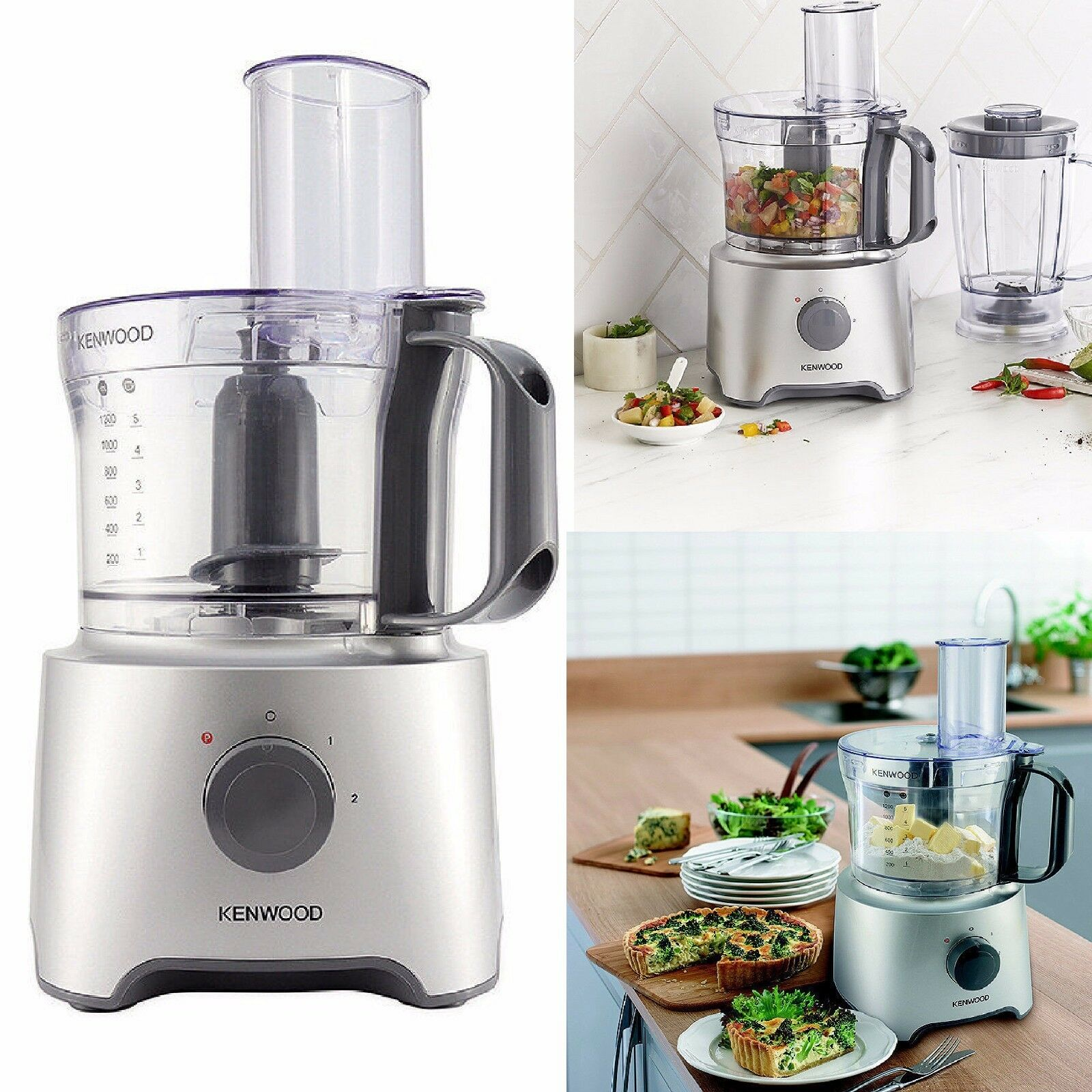 Kenwood KE-FDP301S 2.1 L 800 W Multi Pro Compact Food Processor-Argent
