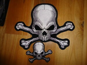 SKULL-AND-CROSS-BONES-BACK-PATCH-IRON-ON-EMBROIDED-QUALITY-PATCH-HARLEY-DAVIDSON