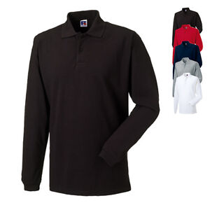 russell herren polo shirt langarmpolo hemd poloshirt xs s. Black Bedroom Furniture Sets. Home Design Ideas