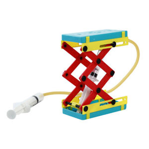 Details about DIY Hydraulic Platform Scissor Lift Table Model Accessories  Children Science LC