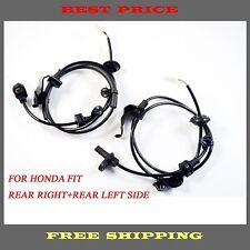 2 PCS ABS Wheel Speed Sensors Rear Left & Right For Honda Fit 09-12 57475TF0003