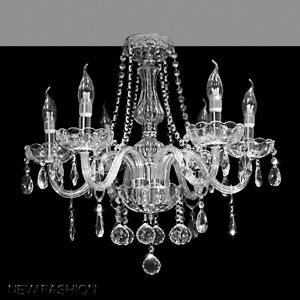6 Lights Clear Or Champagne Marie Therese Crystal
