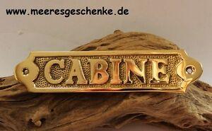 """Analytisch Maritimes Türschild / Messingschild """"cabine """" Ca. 14,5 X 3,5 Cm Modische Muster"""