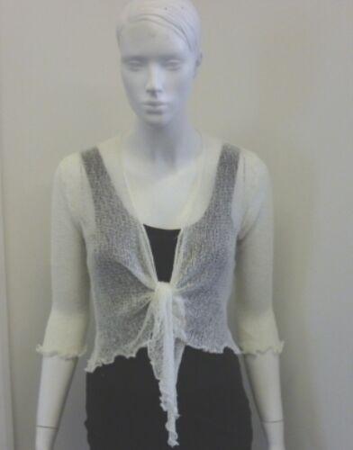 BNWT Womens Ladies Ex Peppermint Double Knit Bali Shrug