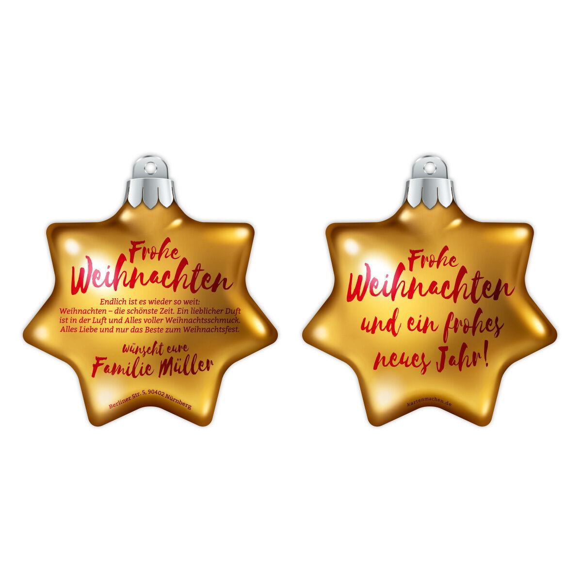 Weihnachtskarten als Weihnachtsdeko - Weihnachtsstern Fotoreal in Gelb