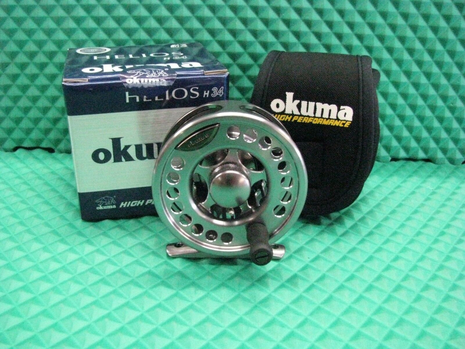 Okuma Helios H34 Waterproof Fly Fishing Reel Waterproof H34 Drag System Line Weight 3,4 0d450b