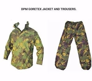 BRITISH ARMY ISSUE DPM GORE-TEX SET - JACKET AND TROUSERS - WATERPROOF SET