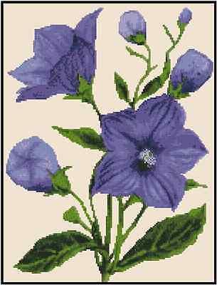 Purple Flowers Counted Cross Stitch Chart No.20-131