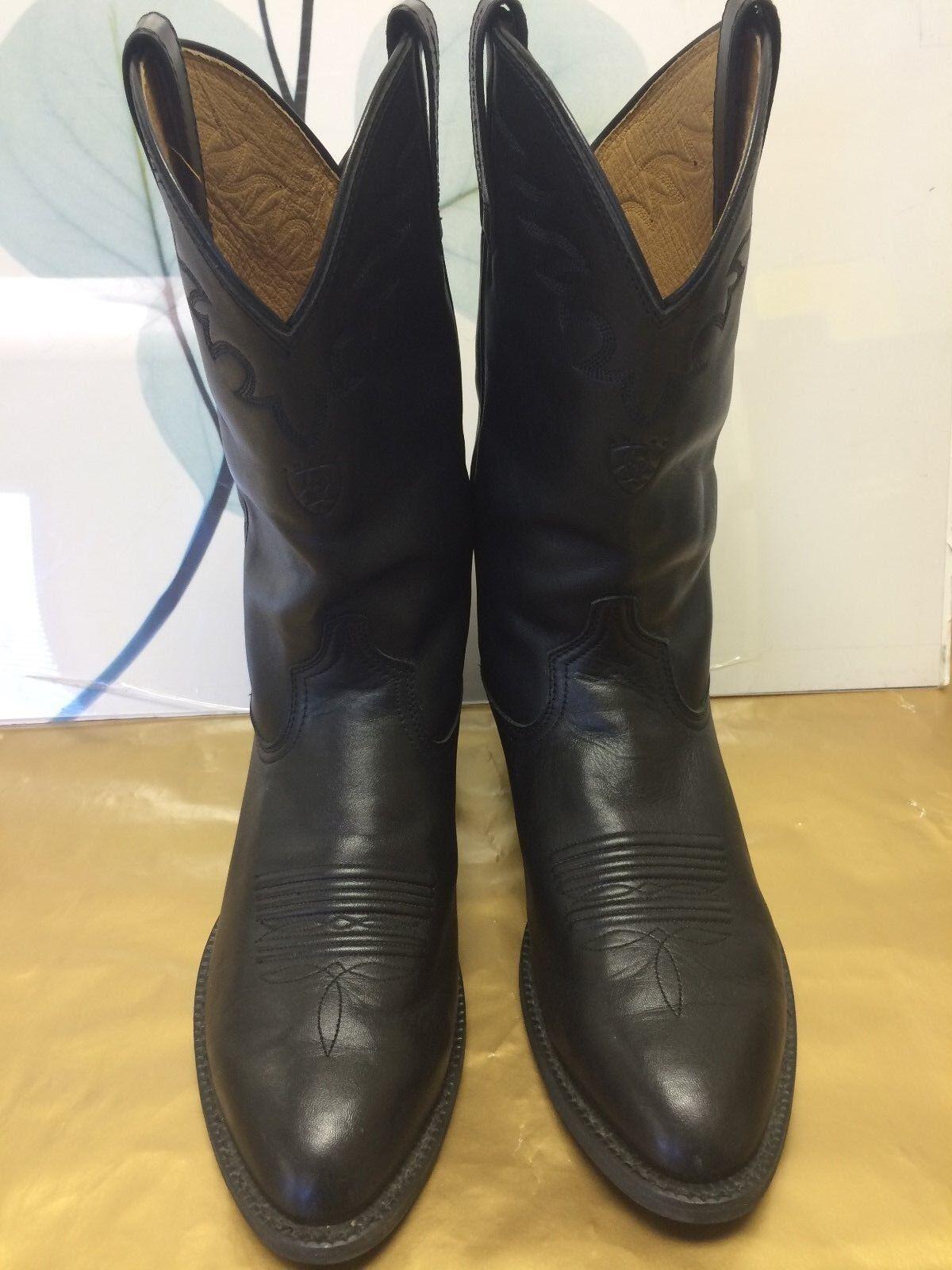 Ariat Negro Cuero Occidental botas De Vaquero 34601 para hombre 10.5