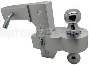 Adjustable Hitch Receiver >> Details About 6 Aluminum Adjustable Trailer Drop Hitch 2 Receiver 1 7 8 And 2 Dual Balls