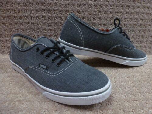 blancas chambray Pro Lo auténtico Carbón Zapatos Gris Vans Hombre qv1pwnU
