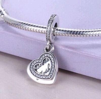 BELOVED MOTHER 925 Sterling Silver Solid Dangle Charm for Bracelet