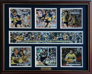 New-PARRAMATTA-EELS-LEGENDS-Memorabilia-Limited-Edition-Framed-Comes-With-COL