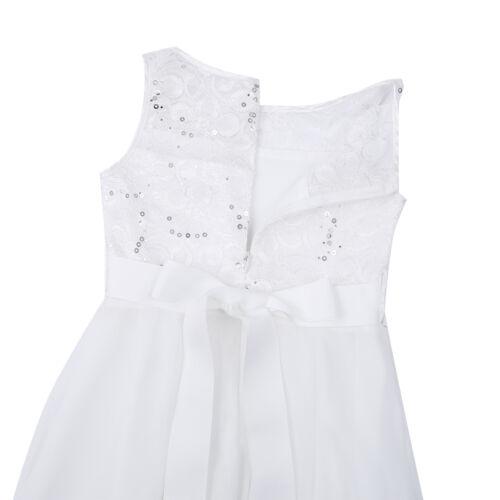 Kid princesse paillettes robe de soirée Fleur Fille Mariage Demoiselle d/'honneur robe de robe tutu