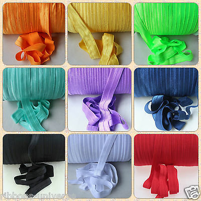 2m, 7/8 , 22mm  shiny soft FOE Fold over elastic Ribbon for baby headband