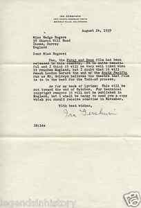 IRA GERSHWIN Autographed Signed LETTER South Pacific Porgy and Bess Lyricist