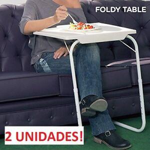 Ordenador Mesa Sofa 2x Para Cama Auxiliar Bandeja Detalles Foldy Plegable De m0vNOnw8