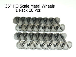 1-Pack-16-Pcs-36-039-039-HO-Scale-Metal-Wheels-for-Model-Train-1-87-Wheel-code-88