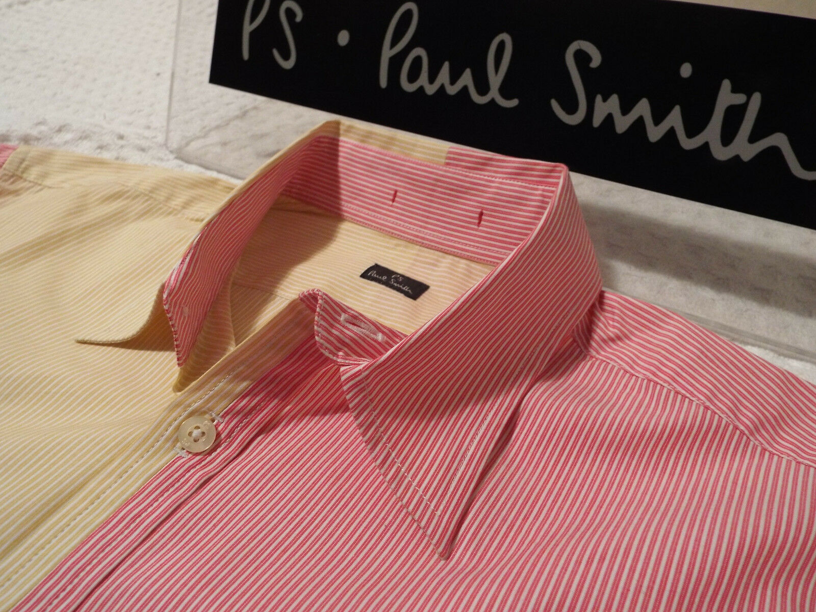 PAUL SMITH Mens Shirt  Size S (CHEST 38 )  RRP +  PANELS OF STRIPES