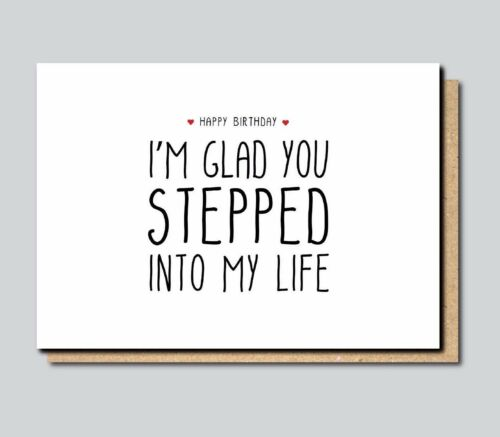 Funny Greeting Card For Stepdad Stepfather Birthday Father/'s Day Comedy Joke