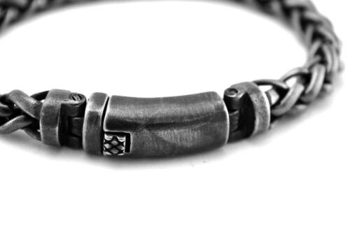 Rocker Edelstahl Zopfketten Armband Brushed Bracelet Biker A020