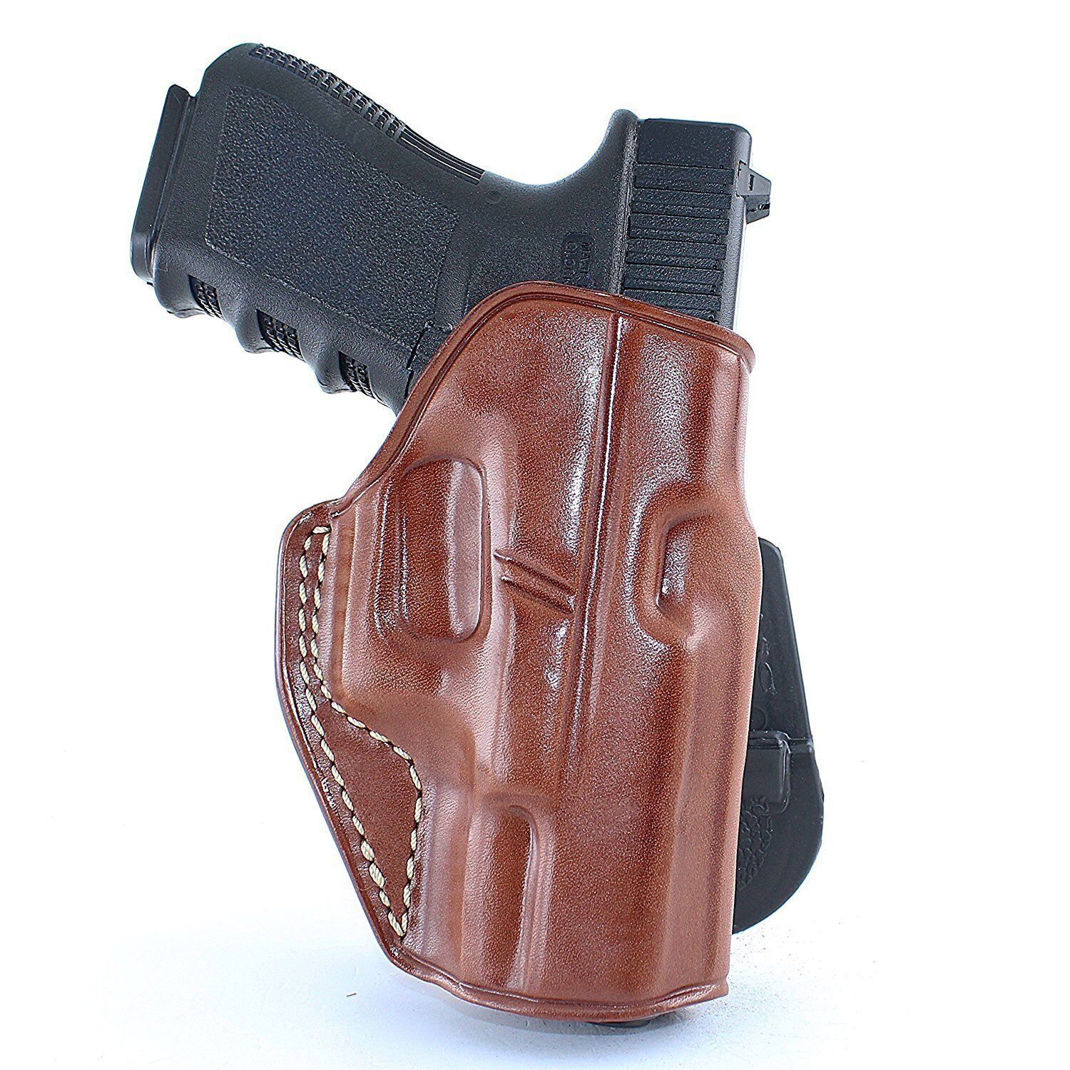 Leather OWB Paddle Holster With Open Top Fits, Kel-Tec P3 AT  PF9  PMR-30  R H