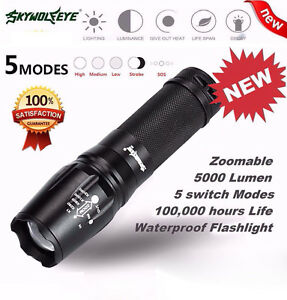 30000LM 12x CREE XM-L T6 LED Flashlight 4x 18650 Hunting Searchlight Torch Lamp