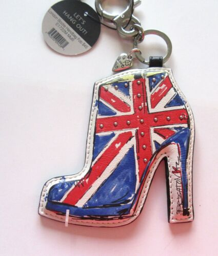 LONDON BOOTIE Handbag Fob shoe blue red pink white Brighton Let/'s Hang Out