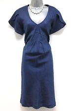 BNWT JoJo Maman Bebe Linen Navy Maternity Day Dress Size 14