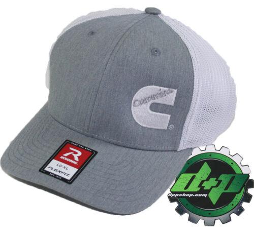 Dodge Cummins trucker hat richardson light Gray denim white mesh flex fit lg//xl