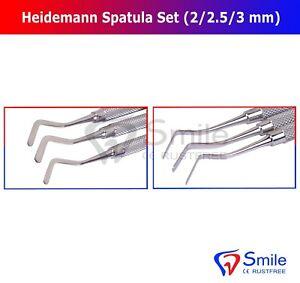 Heidemann Spatule Set de 3 /(2.0 mm, 2.5 mm, 3 mm/) Composite Remplissage Instruments CE