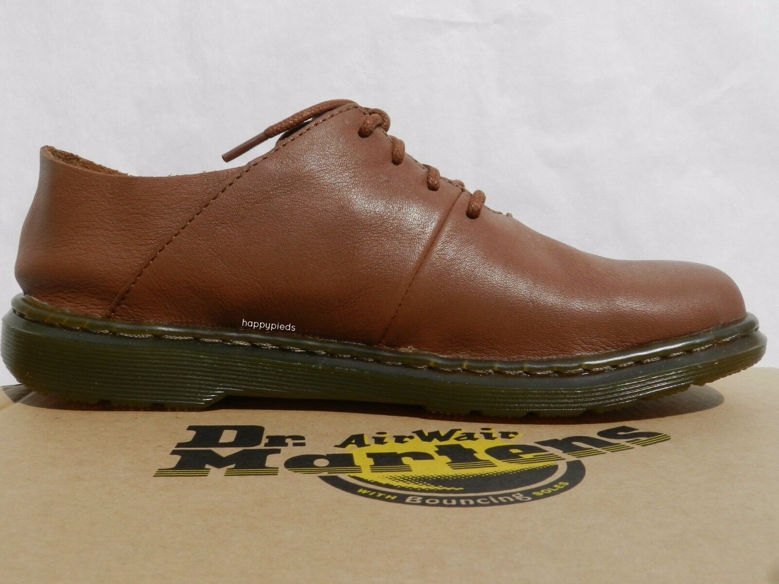 Dr Martens Lorrie II shoes Femme 36 Ballerines Mary Jane Derby Tan UK3 Neuf