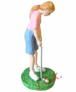 Cake Decorating Golf Figures : WOMAN LADY GOLFER GOLF PLAYER FIGURINE BIRTHDAY CAKE ...