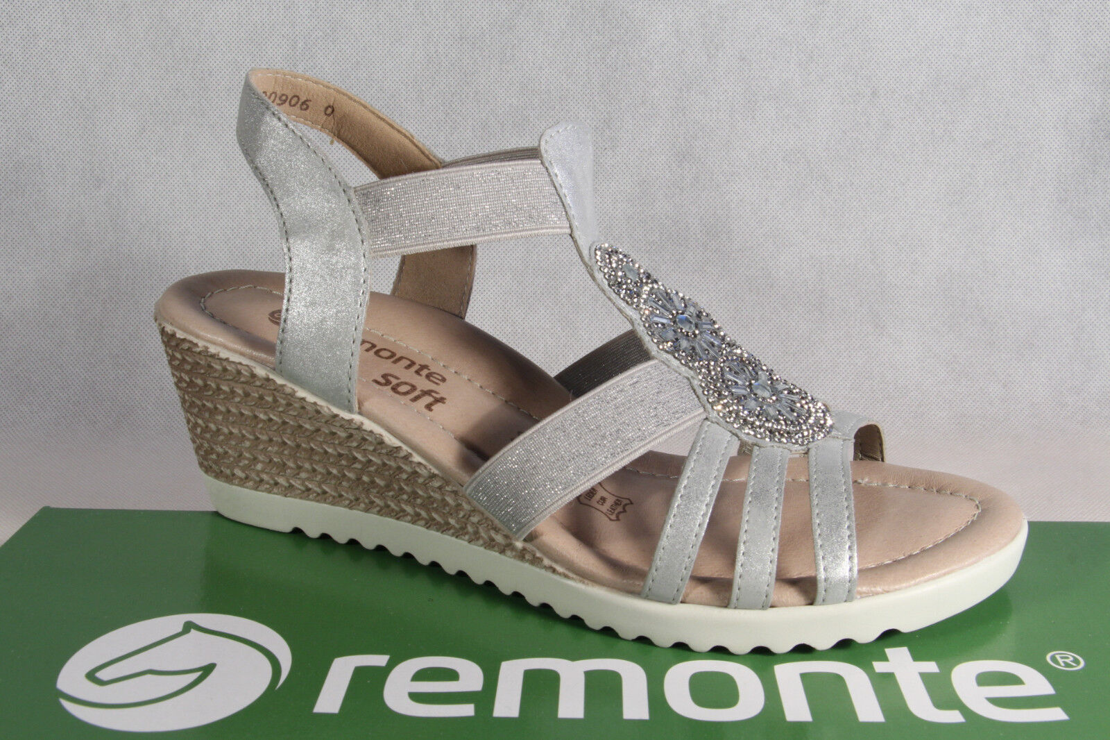 Remonte Sandal Ankle -Strap Sandal High -heeled Sandals  grigio Leather Foot New  vendita di fama mondiale online