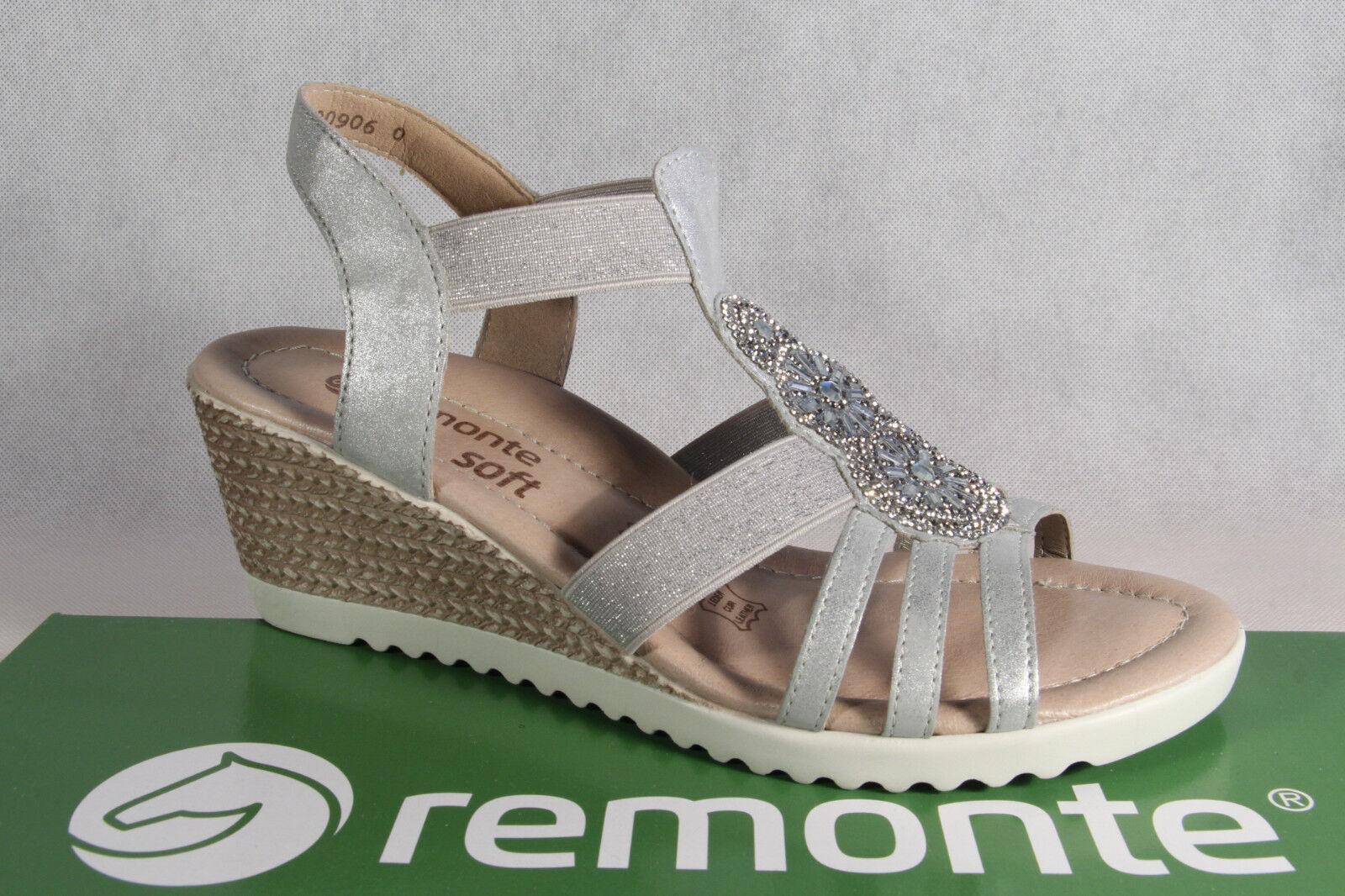 Zapatos de mujer baratos zapatos de mujer Descuento por tiempo limitado Remonte Sandale Sandaletten Sandalette grau Lederfußbett NEU!