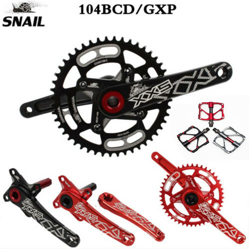 GXP 44-52T Kettenblatt 170mm Kurbel MTB Fahrrad Kurbelgarnitur mit BB  + Pedale