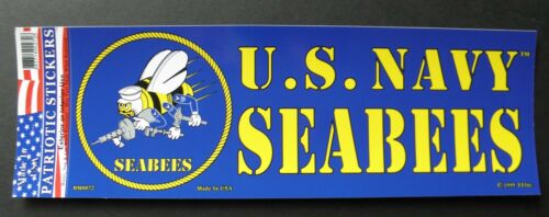 US Navy Seabees Seabee Bumper Sticker USN made in the USA 9.75 x 3.5 inches
