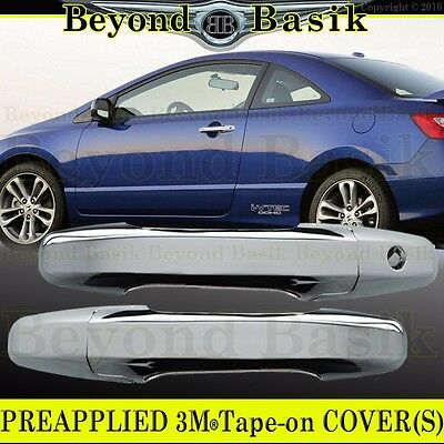 Chrome Door Handle Cover Trim for Honda Civic Coupe 2006-2011