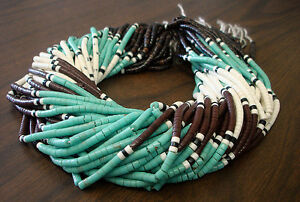 Synthetic-Green-Turquoise-Combination-Heishi-Beads-4-5mm-16-Inches-Strand