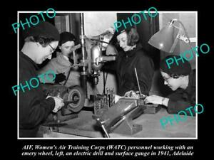OLD-8x6-HISTORICAL-PHOTO-OF-AIF-ANZACS-WOMENS-AIR-TRAINING-CORPS-SA-1941