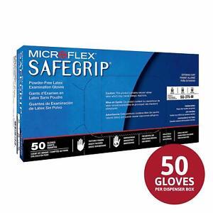 *1-Pack* Microflex Safegrip PF Latex Examination 50 Gloves Medium SG-375-M