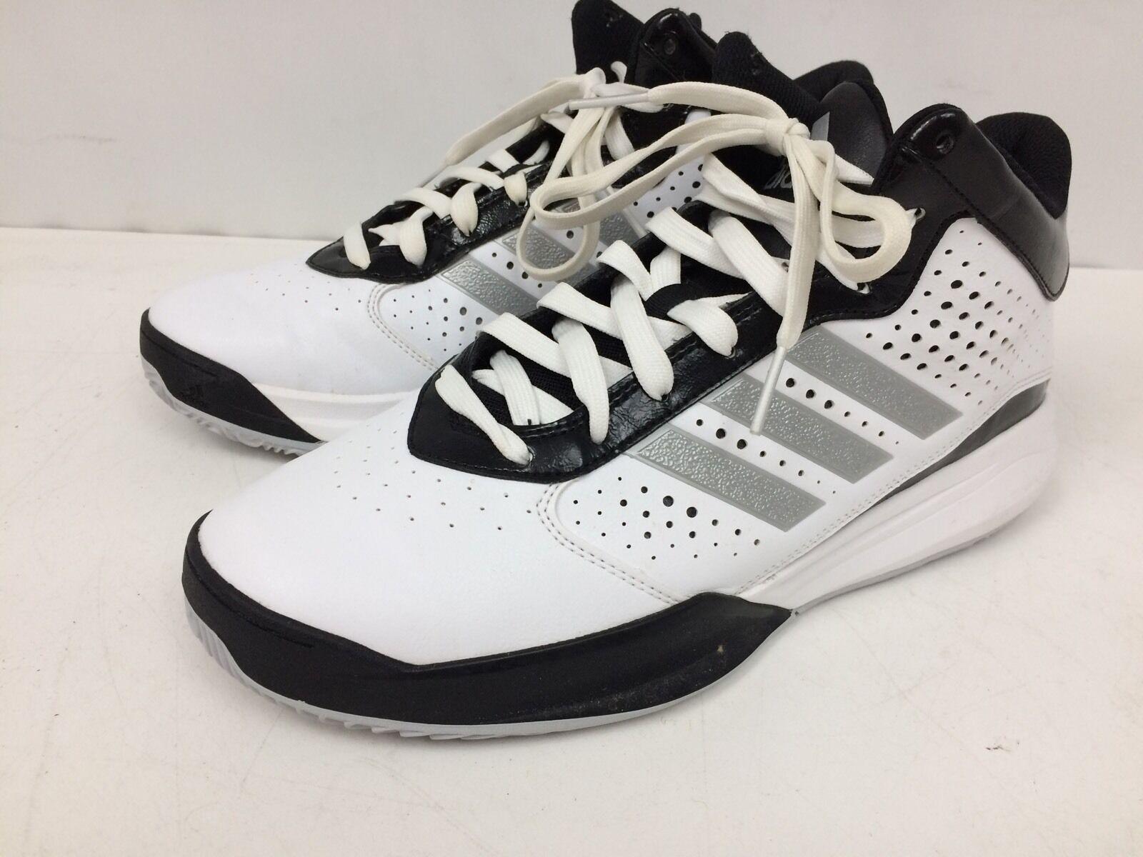 Chaussures de basket Adidas pour Homme Taille 11.5 Blanc / Argent / Noir C766814 * Neuf *