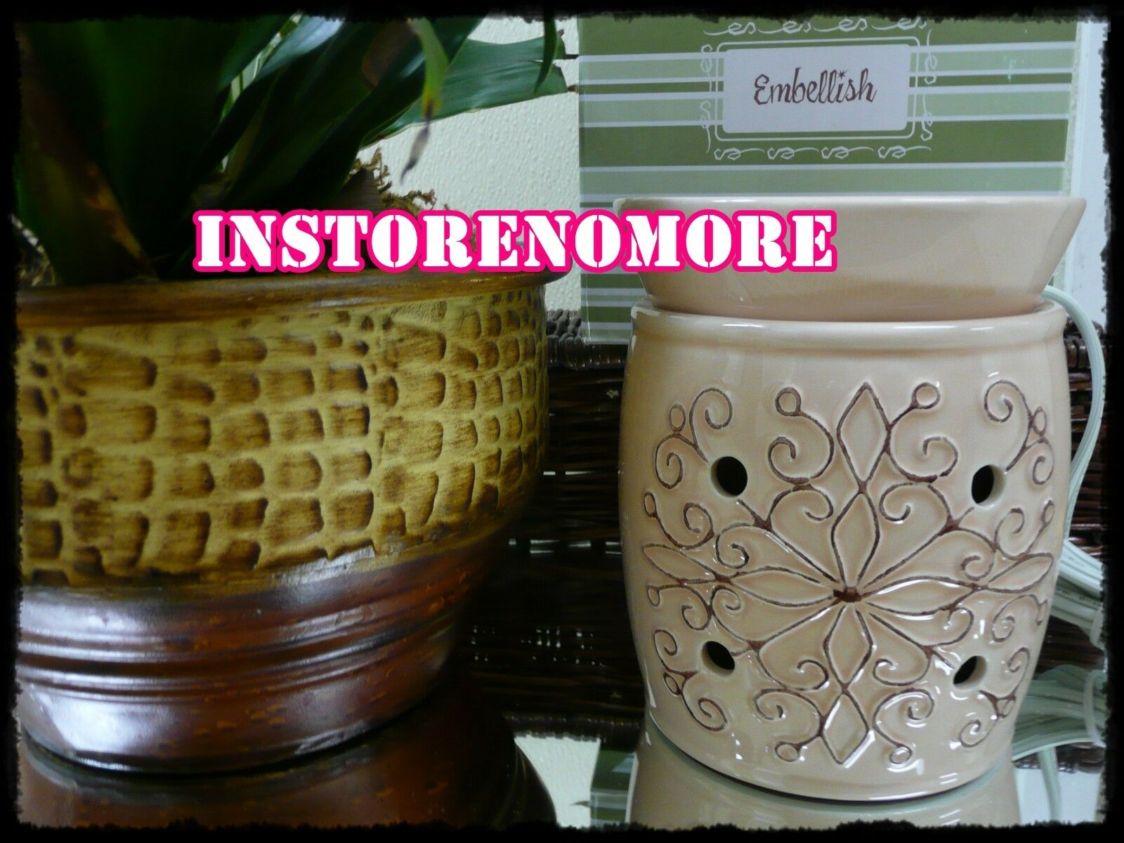 1 SCENTSY Embellish Full Size Warmer Discontinued RARE Retired