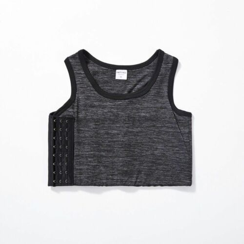 Lady Lesbian Tomboy FTM Buckle Chest Breast Binder Crop Vests Tank Tops Oversize