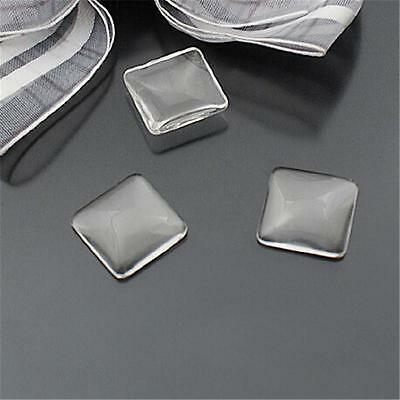 Hot More Size Clear Square Cabochon Glass Dome For Photo Craft Jewelry Make WG02