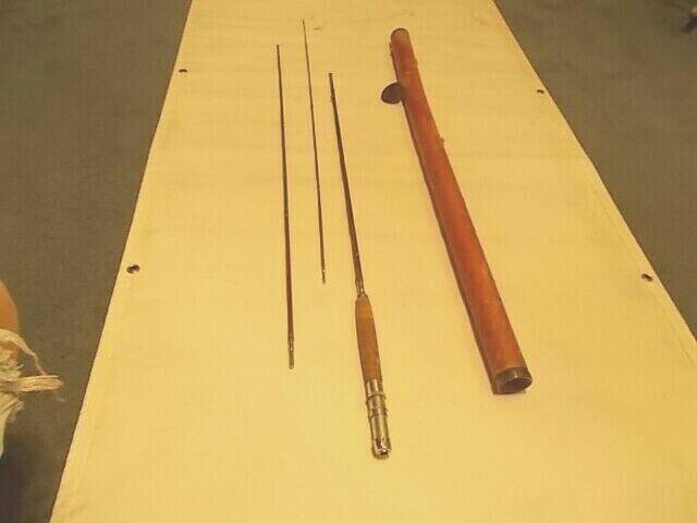 Antiguo Interruptor De bambú caña con mosca Montague Split